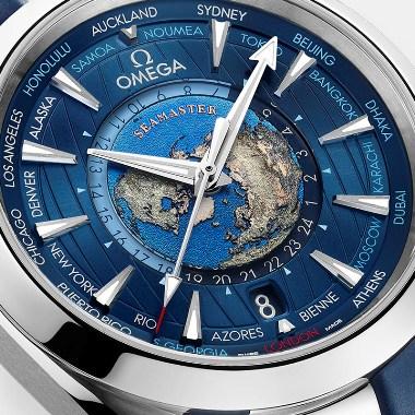 オメガ-シーマスター アクアテラ150M コーアクシャル マスター クロノメーター GMT ワールドタイマー 43MM 画像2